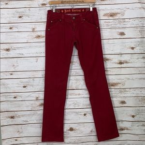 Rock Revival Red Holly Straight Jeans Size 28